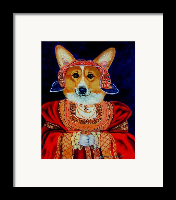 Corgi Queen Framed Print By Lyn Cook
