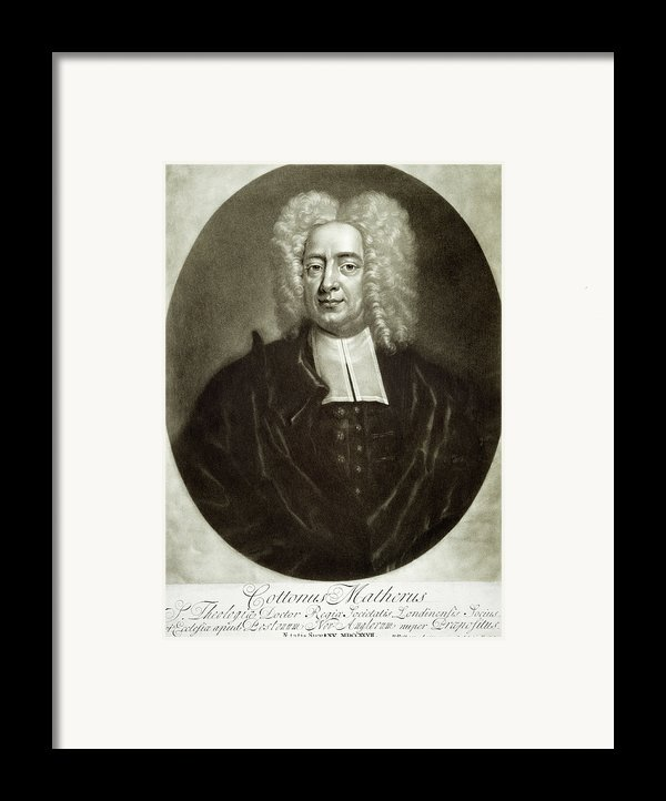 Cotton Mather 1663-1728 Framed Print By Granger