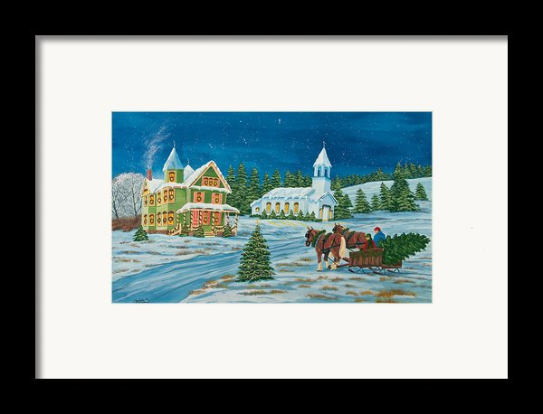 Country Christmas Framed Print By Charlotte Blanchard