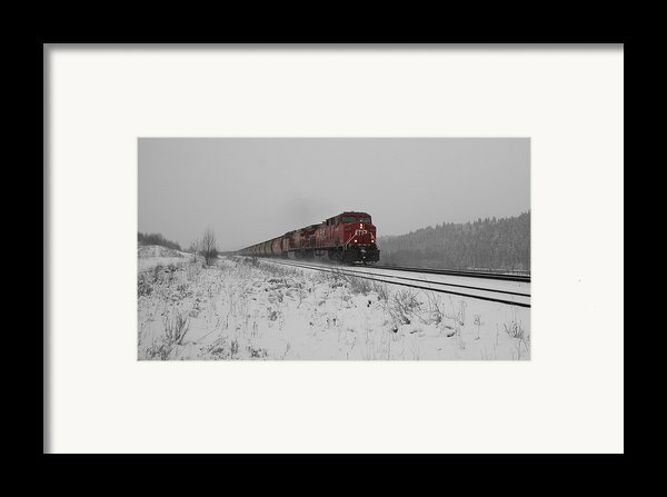 Cp Rail 2 Framed Print By Stuart Turnbull
