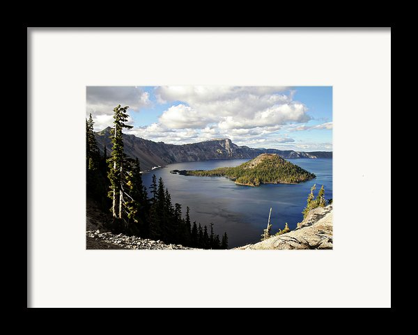 Crater Lake - Intense Blue Waters And Spectacular Views Framed Print By Christine Till