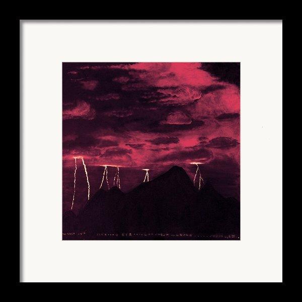 Crimson Storm Framed Print By Dawn Hay