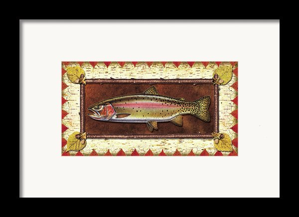 Cutthroat Trout Lodge Framed Print By Jq Licensing