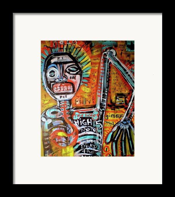 Death Of Basquiat Framed Print By Robert Wolverton Jr