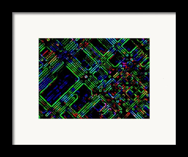 Diffusion Component Framed Print By Will Borden