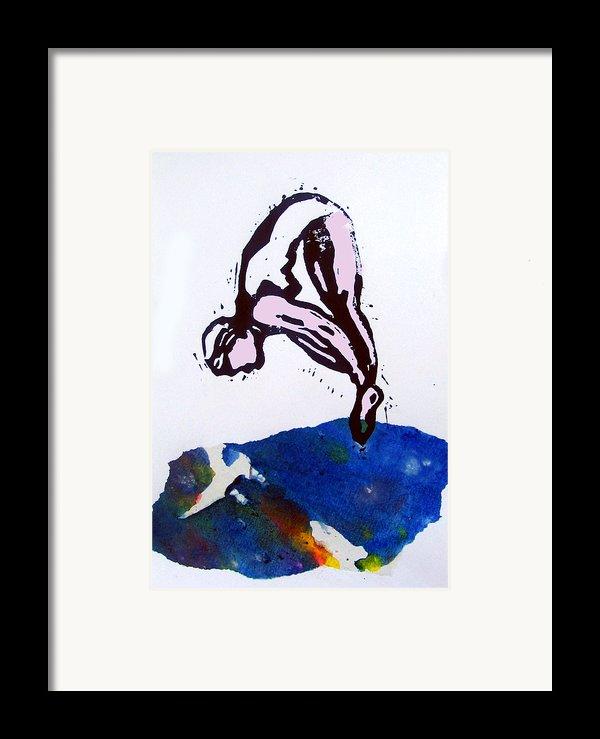 Dive - Sunlit Sea Framed Print By Adam Kissel