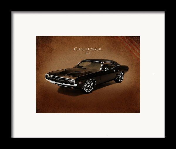 Dodge Challenger Rt Framed Print By Mark Rogan