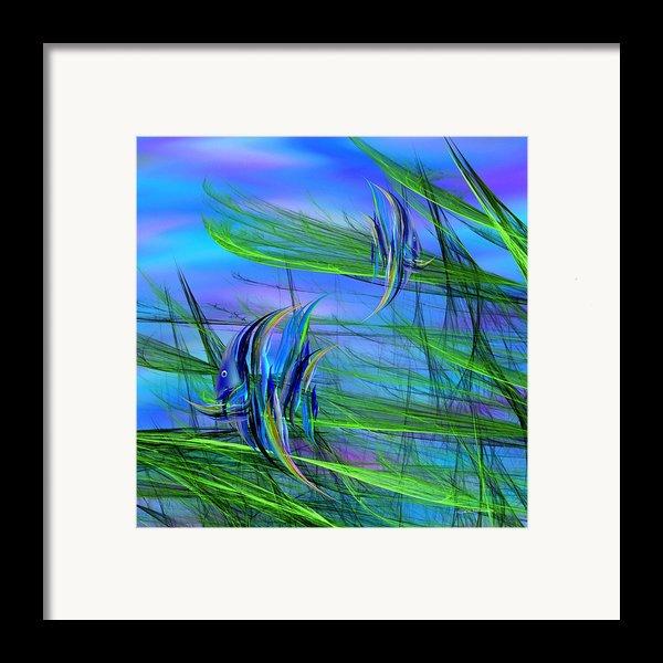 Dos Pescados En Salsa Verde Framed Print By Wally Boggus