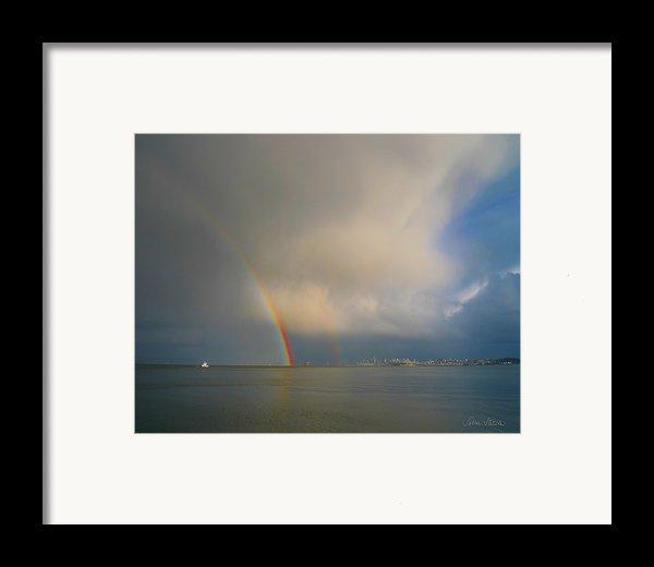 Double Rainbow Framed Print By Sabine Stetson