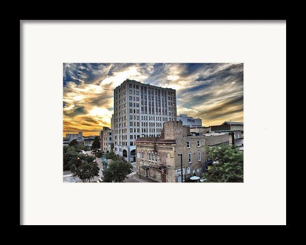 Downtown Appleton Skyline Framed Print By Shutter Happens Photography