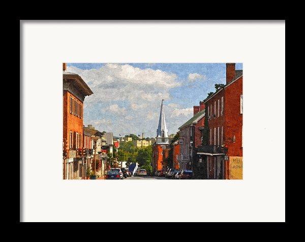 Downtown Lexington 3 Framed Print By Kathy Jennings