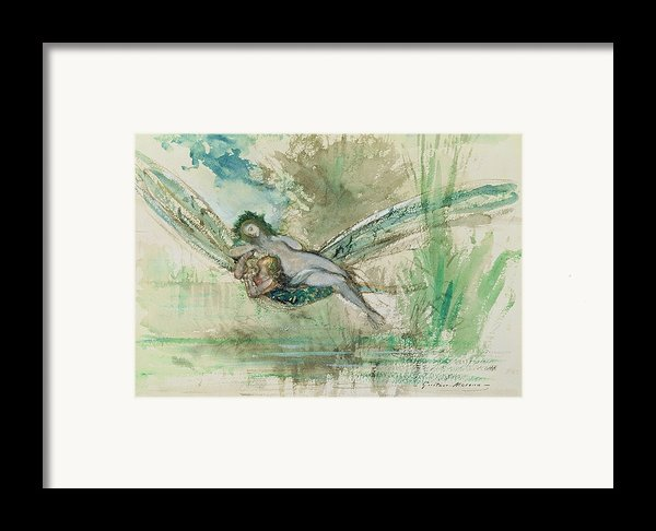 Dragonfly Framed Print By Gustave Moreau