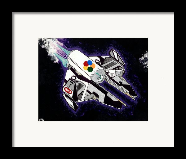 Drobot Space Fighter Framed Print By Keith Qbnyc