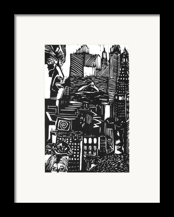 Drowning In Metropolis Framed Print By Darkest Artist