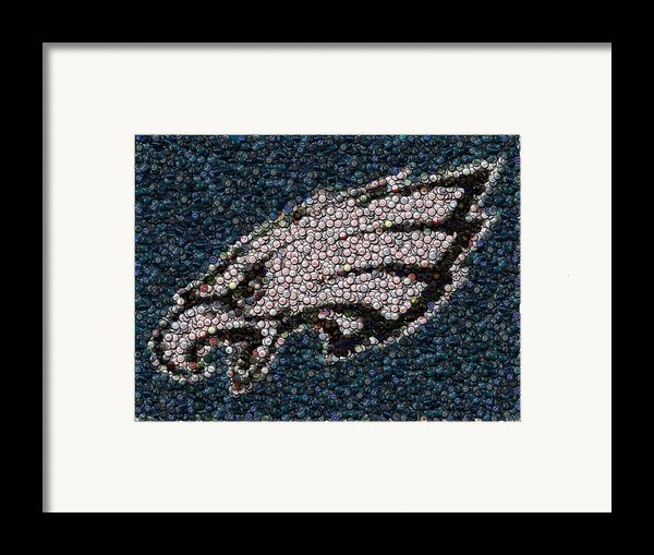 Eagles Bottle Cap Mosaic Framed Print By Paul Van Scott