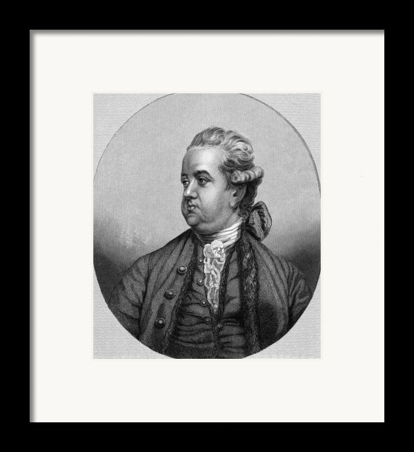 Edward Gibbon, English Historian Framed Print By Middle Temple Library