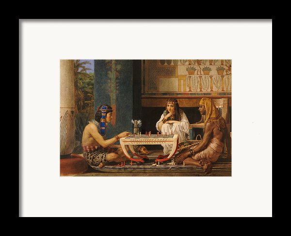 Egyptian Chess Players Framed Print By Sir Lawrence Alma-tadema