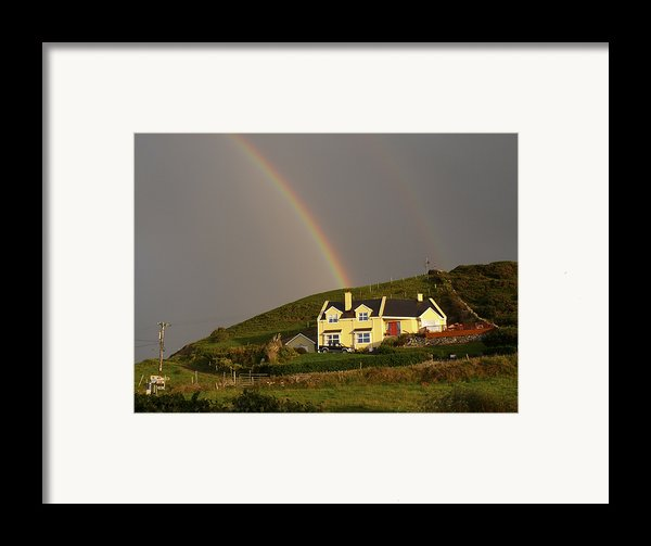 End Of The Rainbow Framed Print By Mike Mcglothlen