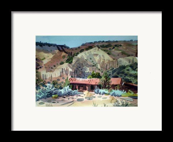 Espanola On The Rio Grande Framed Print By Donald Maier