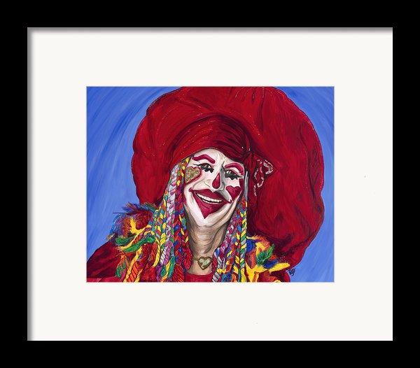Eureka Springs Clown Framed Print By Patty Vicknair