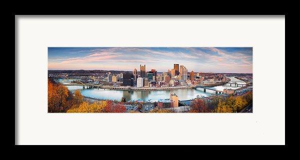 Fall In Pittsburgh  Framed Print By Emmanuel Panagiotakis