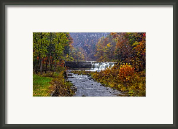 Falls Fishing Framed Print By Mark Papke