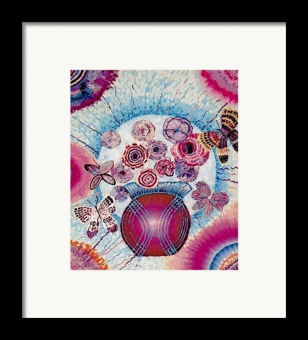 Fantasy Flowers Framed Print By Brenda Adams