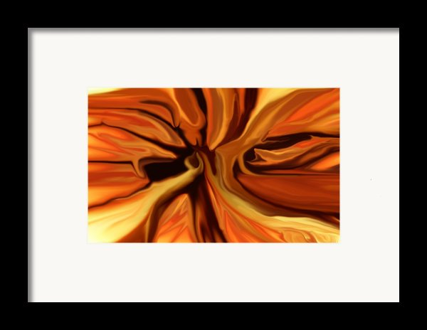 Fantasy In Orange Framed Print By David Lane
