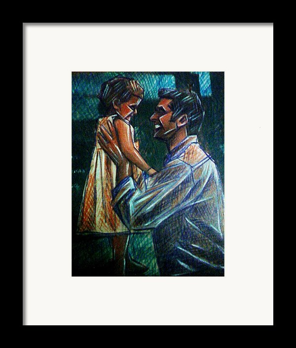 Father And Daughter Framed Print By Paulo Zerbato