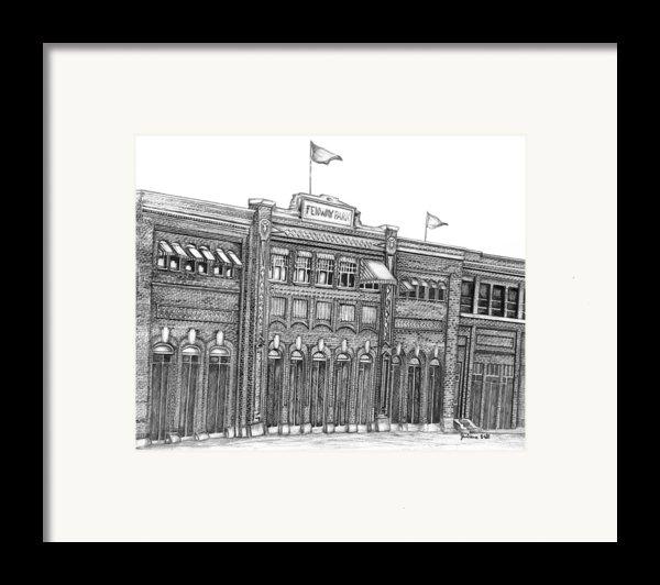 Fenway Park Framed Print By Juliana Dube