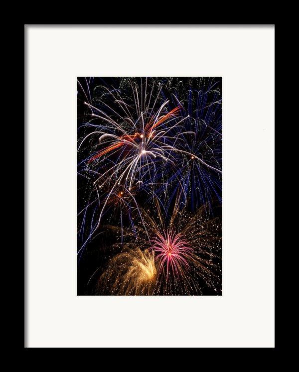 Fireworks Celebration  Framed Print By Garry Gay