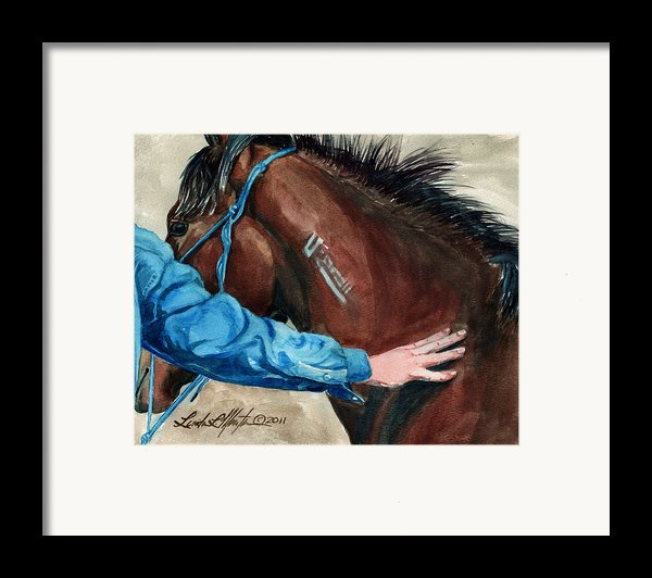 First Touch Framed Print By Linda L Martin
