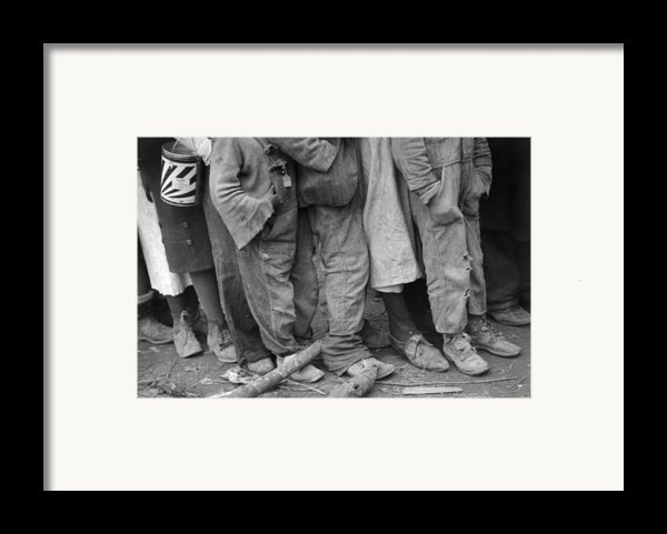 Flood Refugees, 1937 Framed Print By Granger