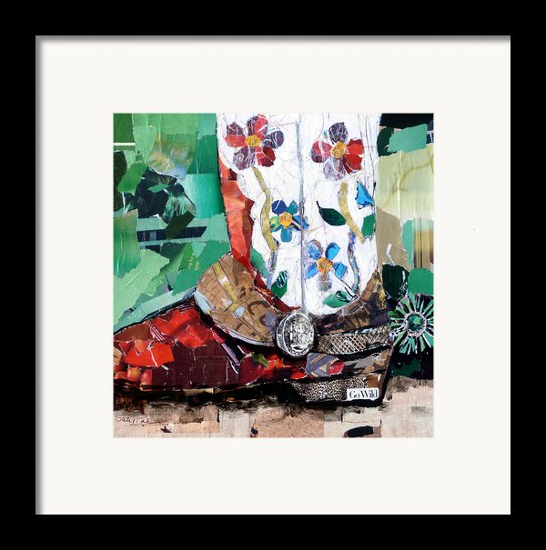 Floral Boot Framed Print By Suzy Pal Powell