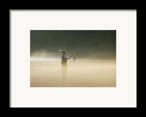 Fly Fishing  Framed Print By Betty Larue