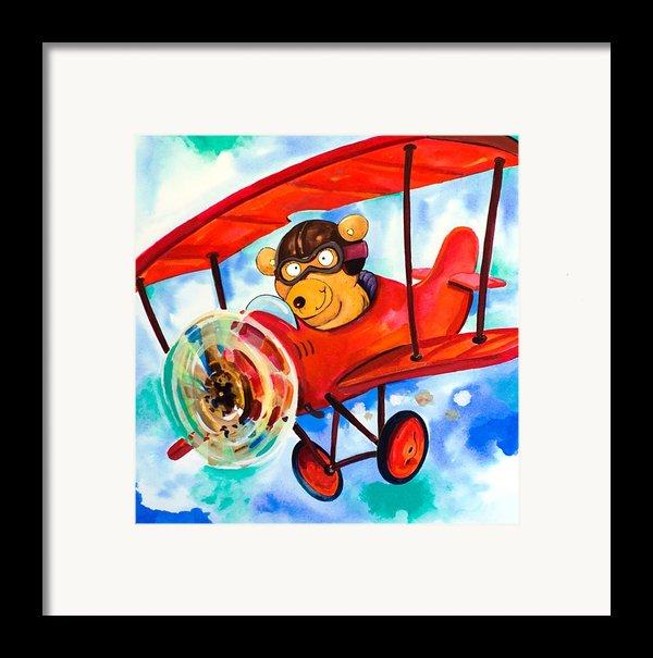 Flying Bear Framed Print By Scott Nelson