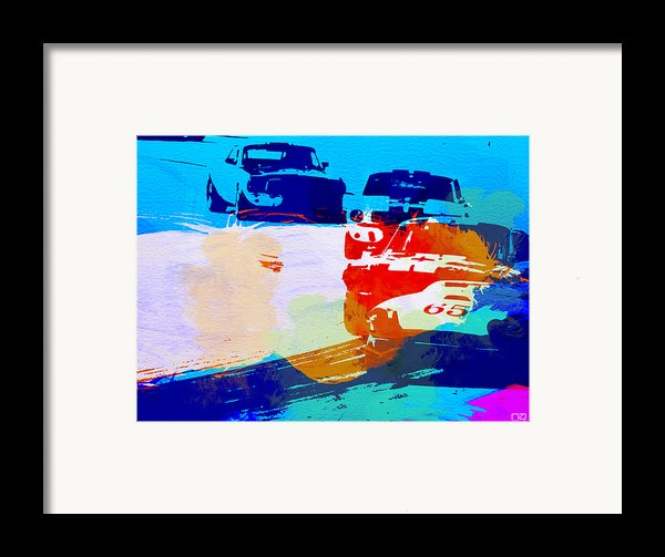 Ford Mustang Watercolor Framed Print By Naxart Studio
