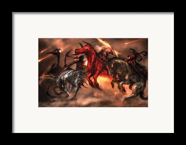 Four Horsemen Framed Print By Alex Ruiz