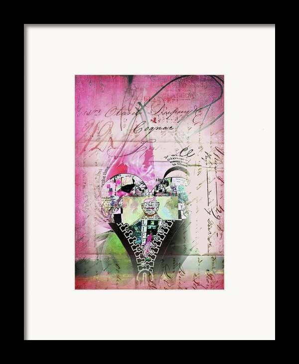 French Pink Heart Framed Print By Anahi Decanio