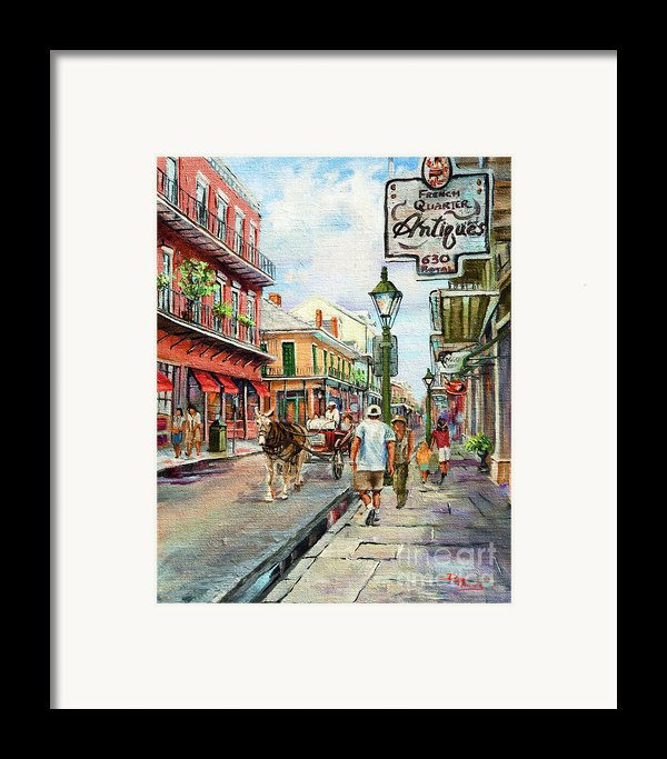 French Quarter Antiques Framed Print By Dianne Parks