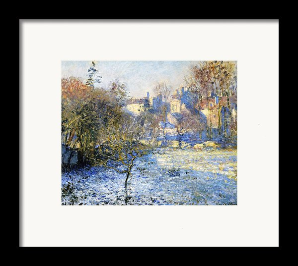 Frost Framed Print By Claude Monet