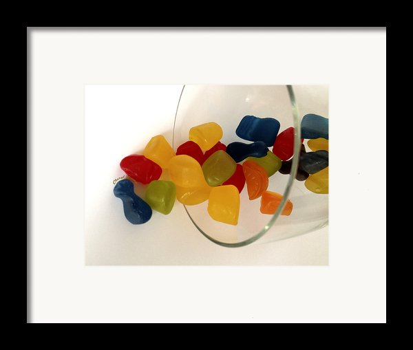 Fruit Gummi Candy Framed Print By Cheryl Young