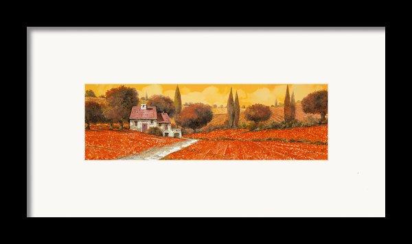 Fuoco Di Toscana Framed Print By Guido Borelli