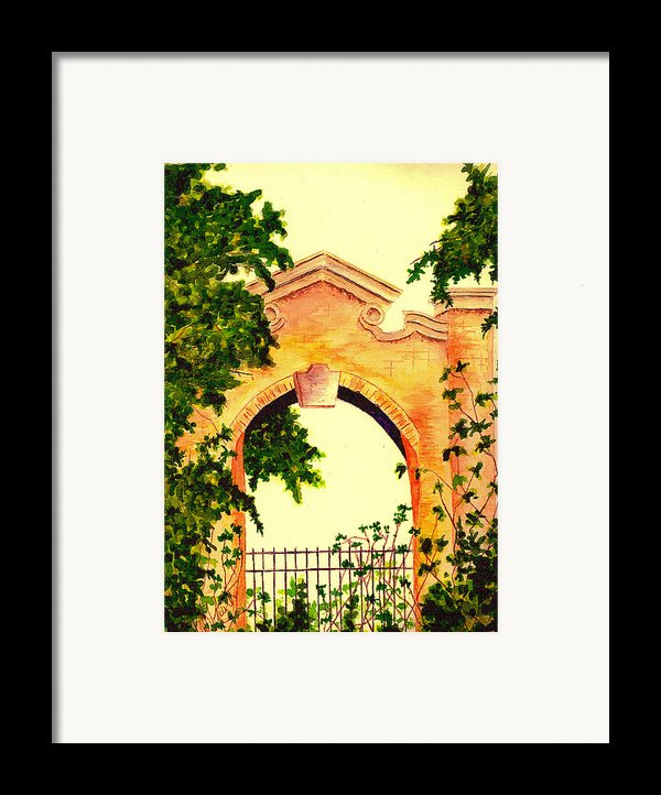 Garden Scene Framed Print By Michael Vigliotti