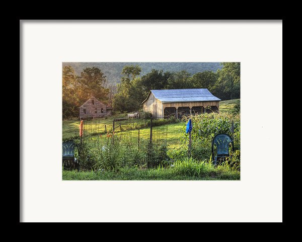 Garden View Framed Print By Pete Hellmann