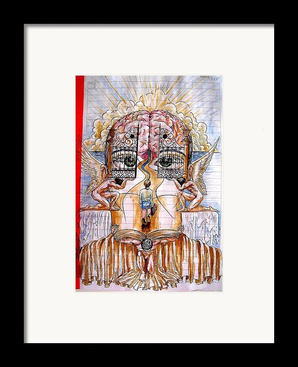 Gates Of Self-knowledge Framed Print By Paulo Zerbato