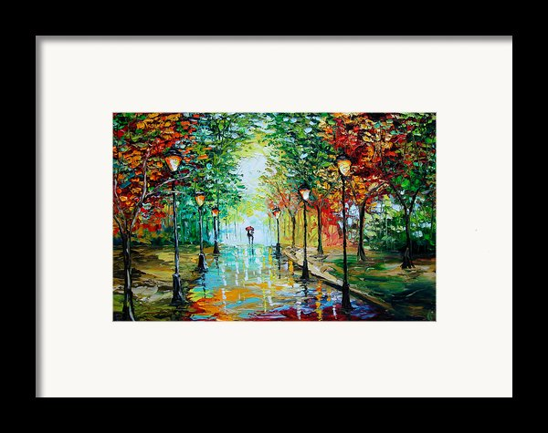Gentle Rain Framed Print By Beata Sasik