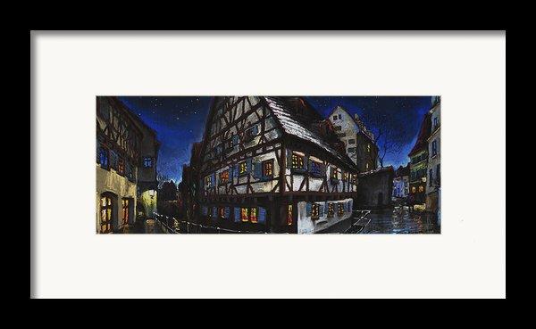 Germany Ulm Fischer Viertel Schwor-haus Framed Print By Yuriy  Shevchuk