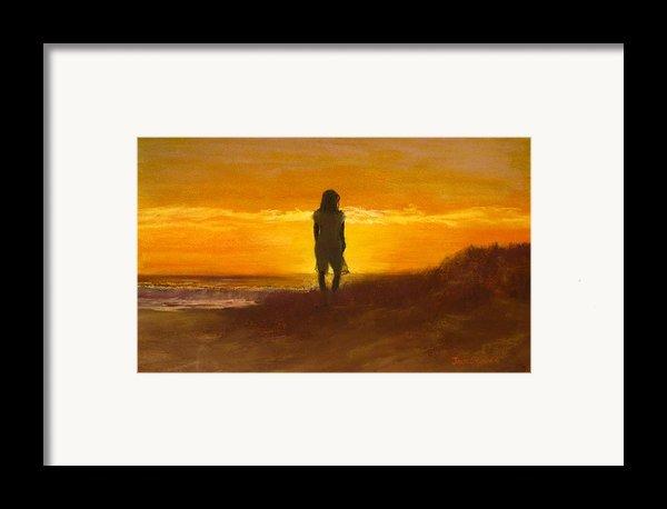 Girl On The Dunes Framed Print By Jack Skinner