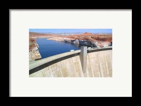 Glen Canyon Dam Framed Print By Will Borden